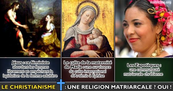 Matriarcat & Religions : des vestiges secrets au syncrétisme Le-christianisme-une-religion-matriarcale