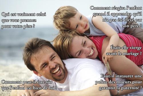 Patriarcat : comment être sûr du père ? Virginité ? Police des moeurs ?