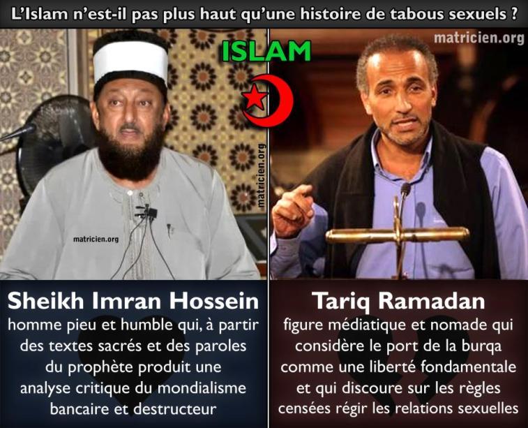 Cheikh Imran Hossein VS Tariq Ramadan : l'Islam n'est-elle qu'une histoire de sexe ?