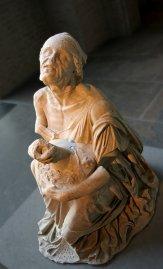 Vieille prostituée serrant contre elle sa jarre de vin, iie siècle av. J.‑C., Glyptothèque de Munich