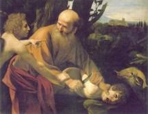 Abraham (Brahma des Védas aryens) d'Ur (Sumer) sur le point de sacrifier son fils au dieu-père Yahvé (Baal)