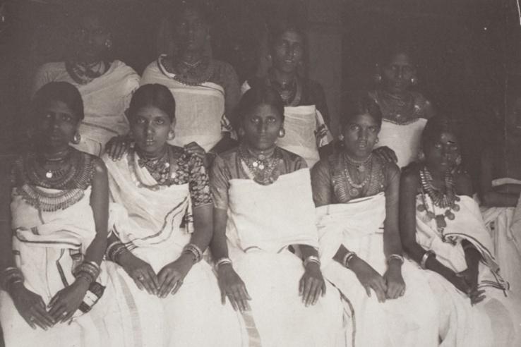 Groupe de femmes Nair - Kerala 1914