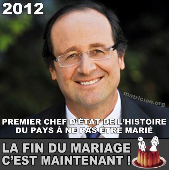 François Hollande, le premier président non-marié