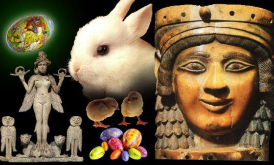 Ishtar-Easter déesse-mère de Pâques, équinoxe du printemps, retour de la vie