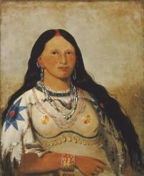 Mink (femme amérindienne Mandan), par George Catlin, 1872