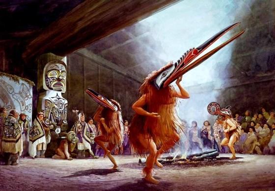 Dance d'hiver Tsimshian, similaire aux Kwakiutl