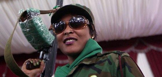 Une femme libyenne de Walid Bani, amazone héroïque de la Jamahiriya
