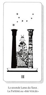 Tarot la papesse, ou Isis voilée