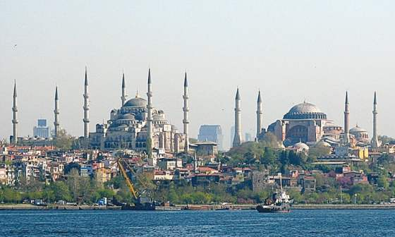 The Blue Mosque and the Hagia Sophia