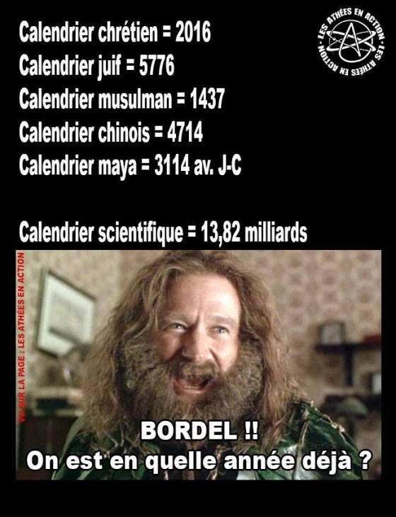 Valse des calendriers